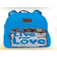 Mochila Love Azul...
