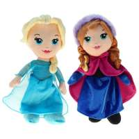 Pack 2 Peluches 30 cm Elsa + Anna