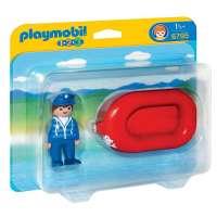 Playmobil 1.2.3, Hombre con Balsa - 6795