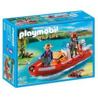 Playmobil Bote hinchable con exploradore