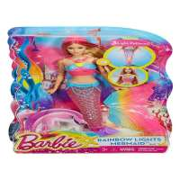 Barbie Sirena Luces De Arcoíris