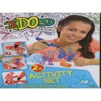 IDo 3D Set 2 Bolígrafos Azul, Morado