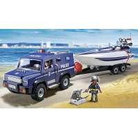 Playmobil Coche Policía Con Lancha