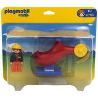Playmobil 1.2.3 Helicoptero rescate