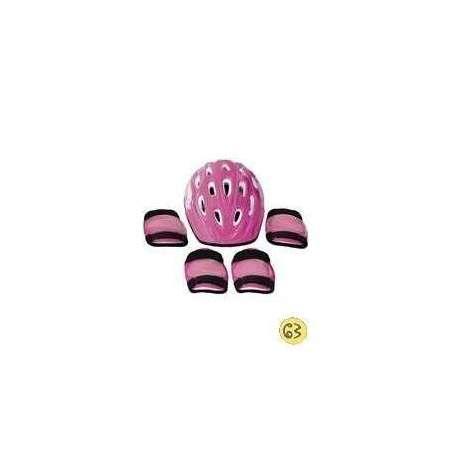 Casco Y Protecciones Rosa