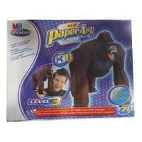 Juego Paper art 3D. Gorila