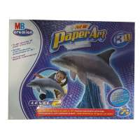Juego Paper art 3D. Delfin
