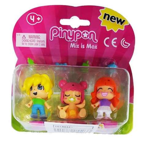 Pin y Pon Pack 3 Fig.2 niñ@s y bebe Rosa